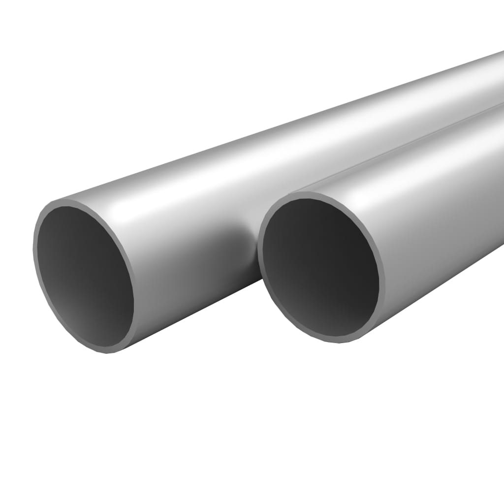 vidaXL Tuburi din aluminiu, 4 buc., 2 m, Ø25 x 2 mm, rotund