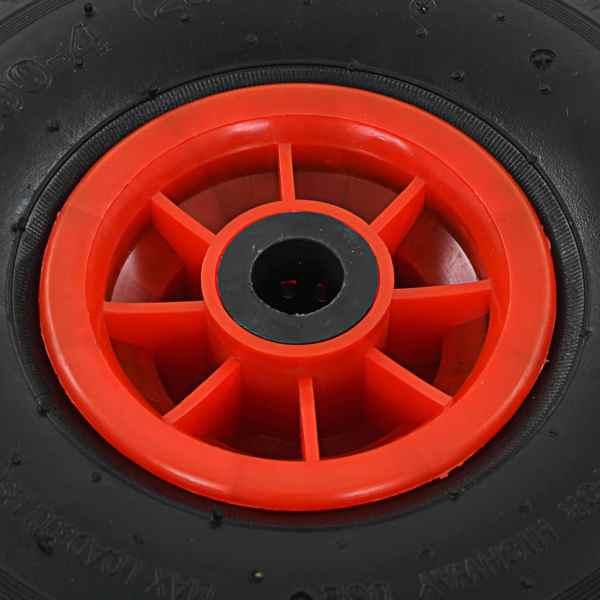 Roți cărucior industrial, 2 buc., cauciuc 3.00-4 (260 x 85)