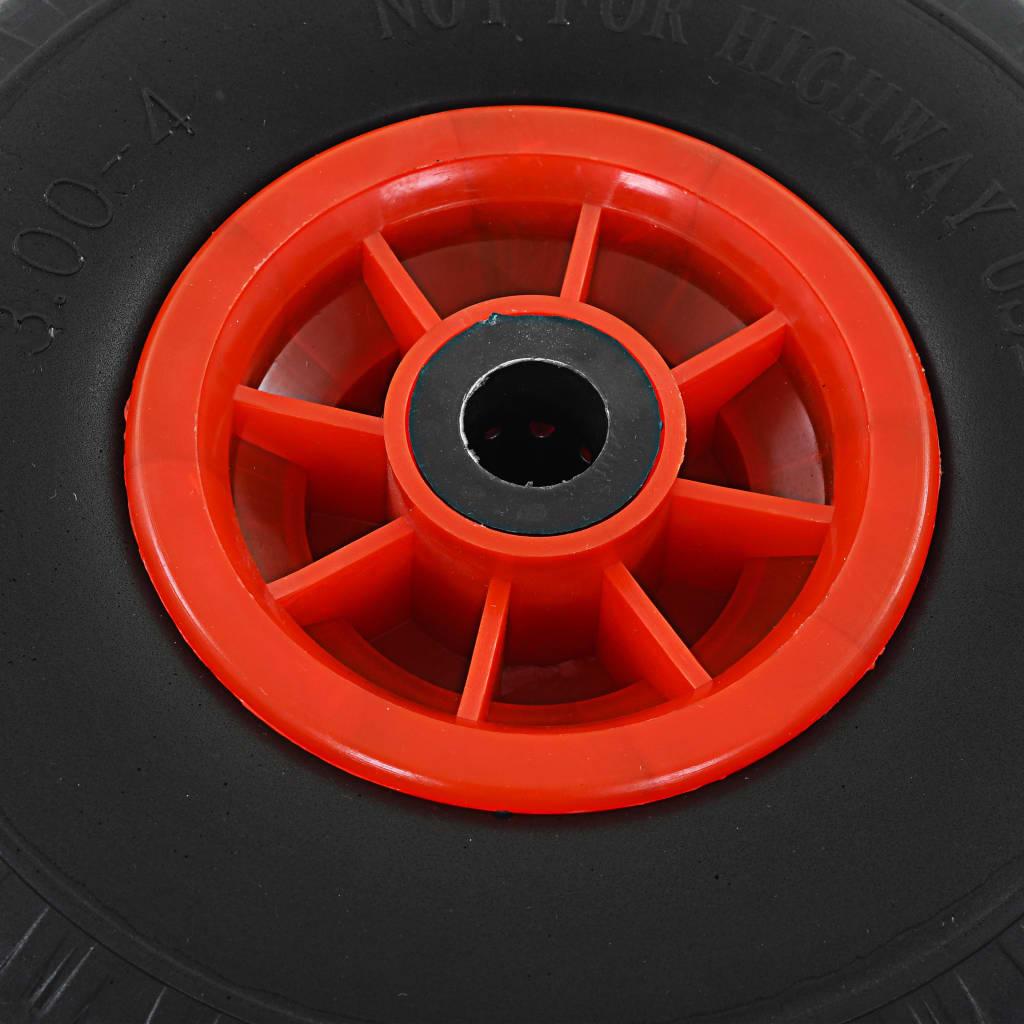 Roți de cărucior industrial, 4 buc., PU 3.00-4 (260×85)