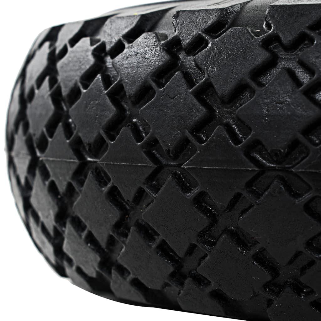 vidaXL Roți cărucior industrial, 2 buc., PU 3.00-4 (260×85)