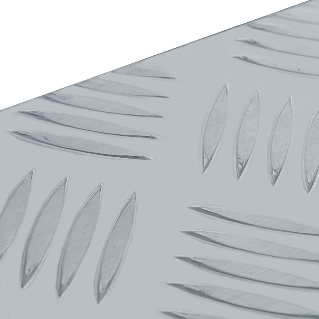 vidaXL Cutie din aluminiu, 61,5 x 26,5 x 30 cm, argintiu