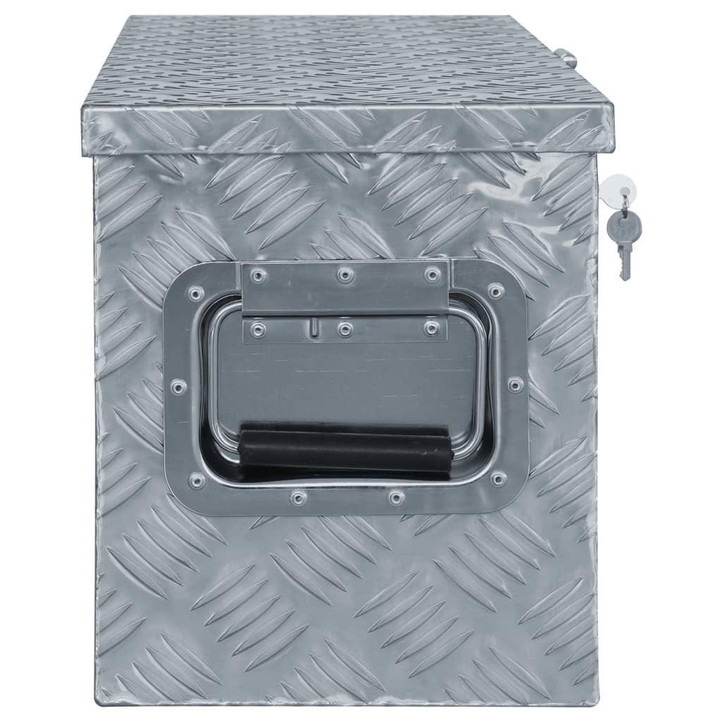 Cutie din aluminiu, 80,5 x 22 x 22 cm, argintiu