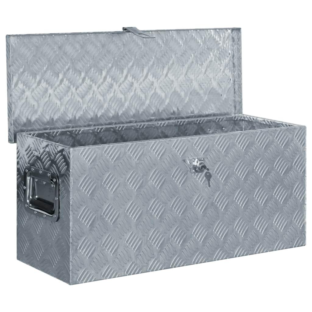 Cutie din aluminiu, 80 x 30 x 35 cm, argintiu