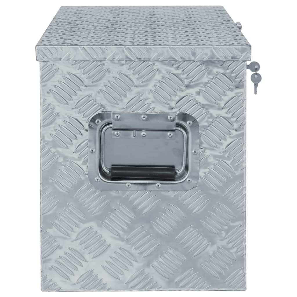 vidaXL Cutie din aluminiu, 90,5 x 35 x 40 cm, argintiu