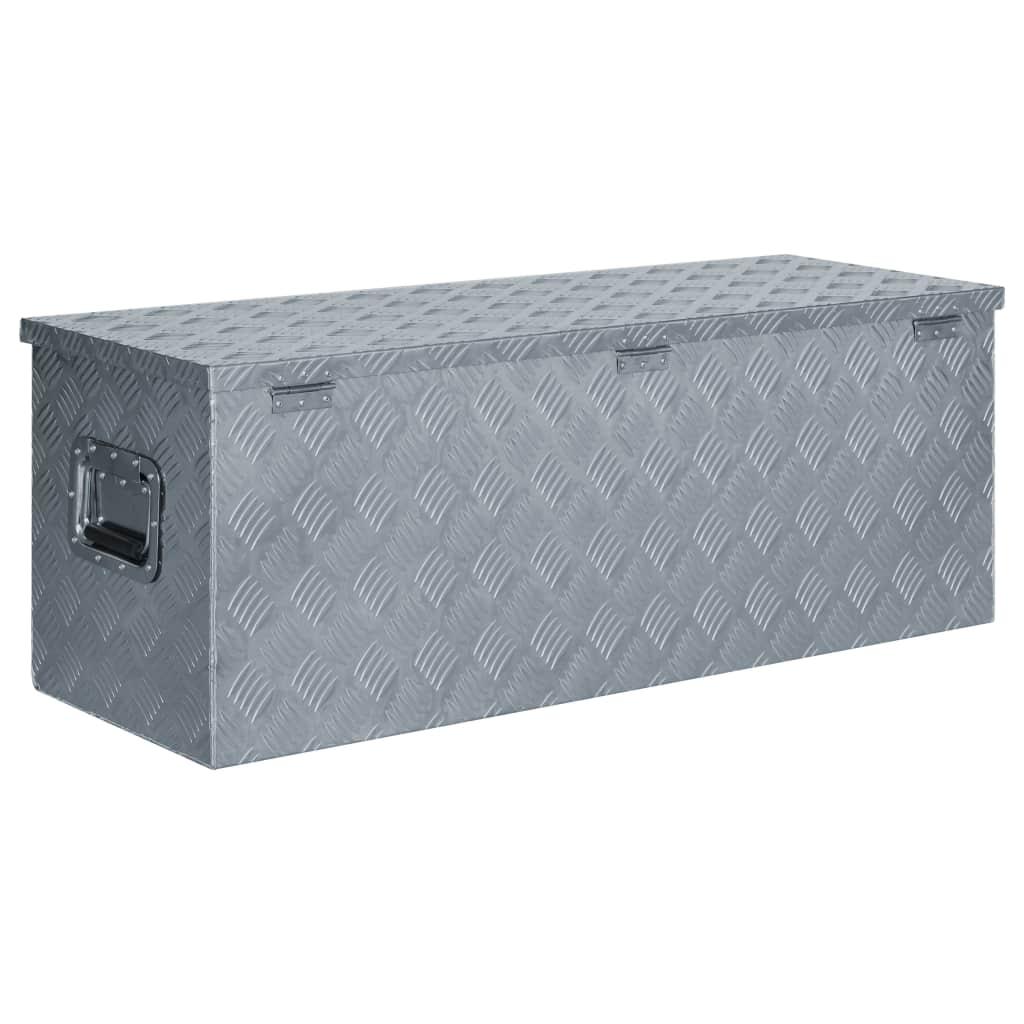 Cutie din aluminiu, 110,5 x 38,5 x 40 cm, argintiu