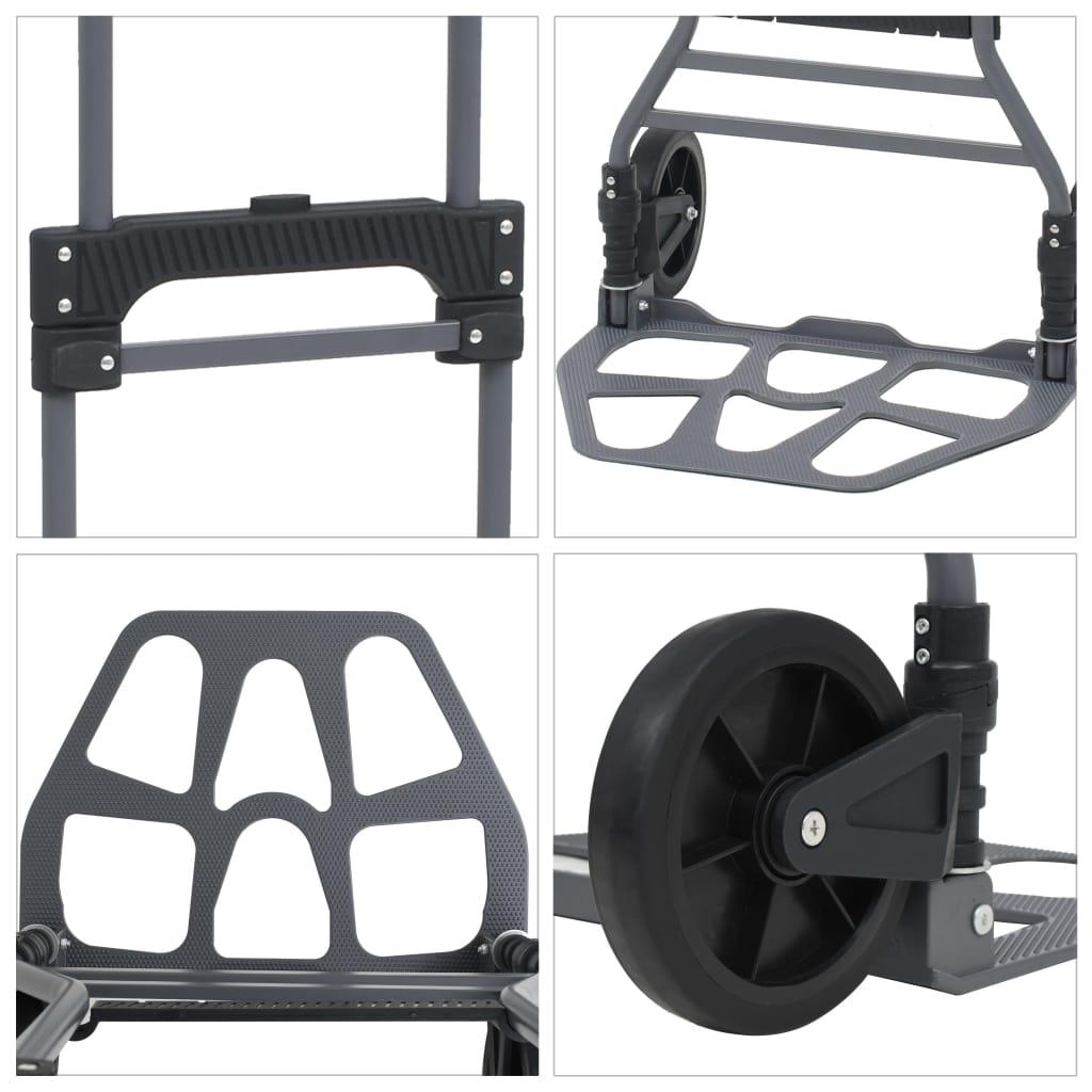 vidaXL Cărucior marfă pliant manual, 130 kg, aluminiu