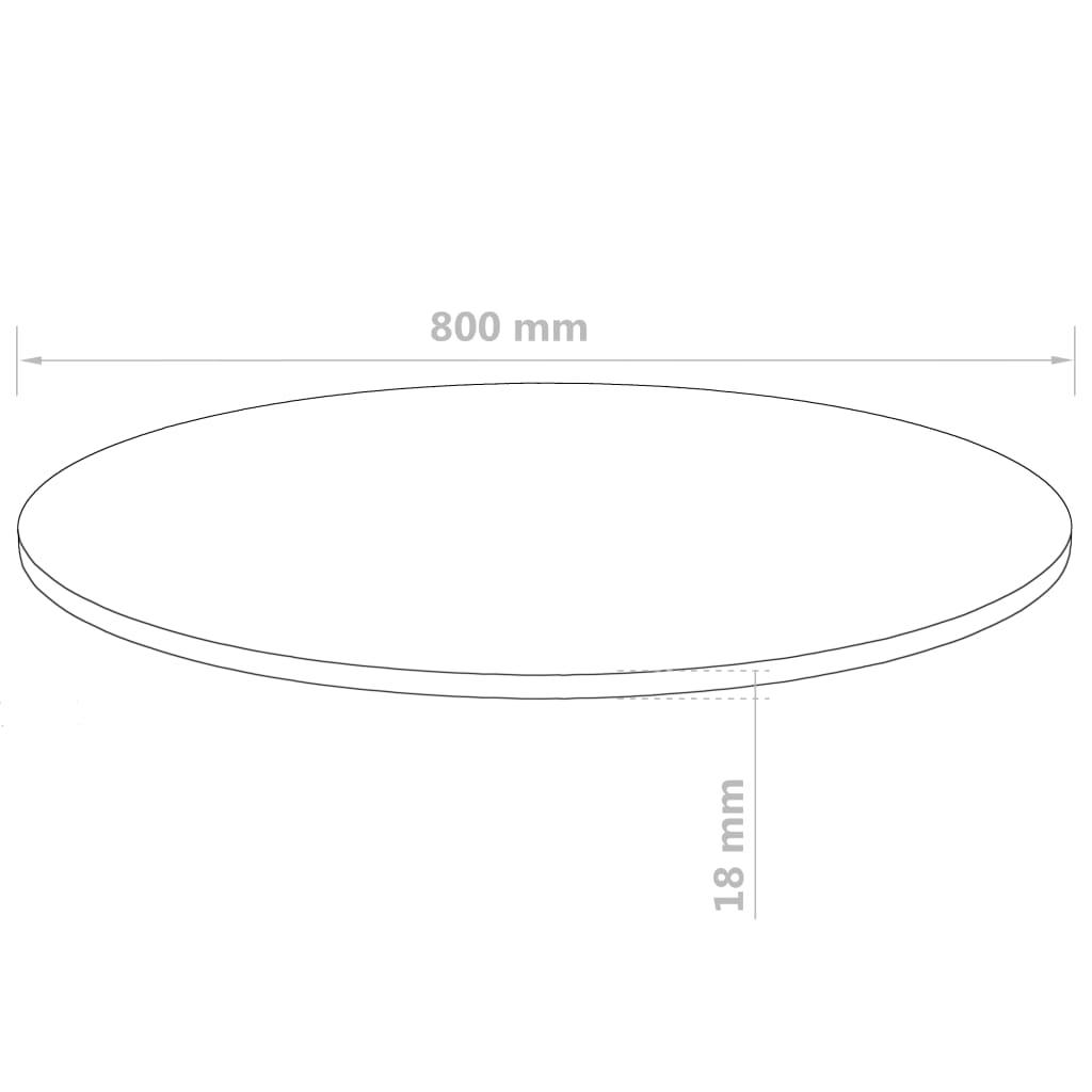 Blat de masă rotund, MDF, 800 x 18 mm