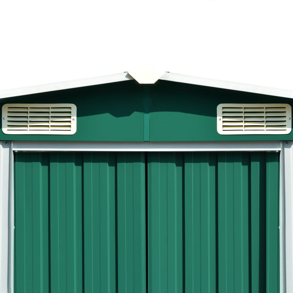 vidaXL Șopron de grădină, 257 x 597 x 178 cm, metal, verde