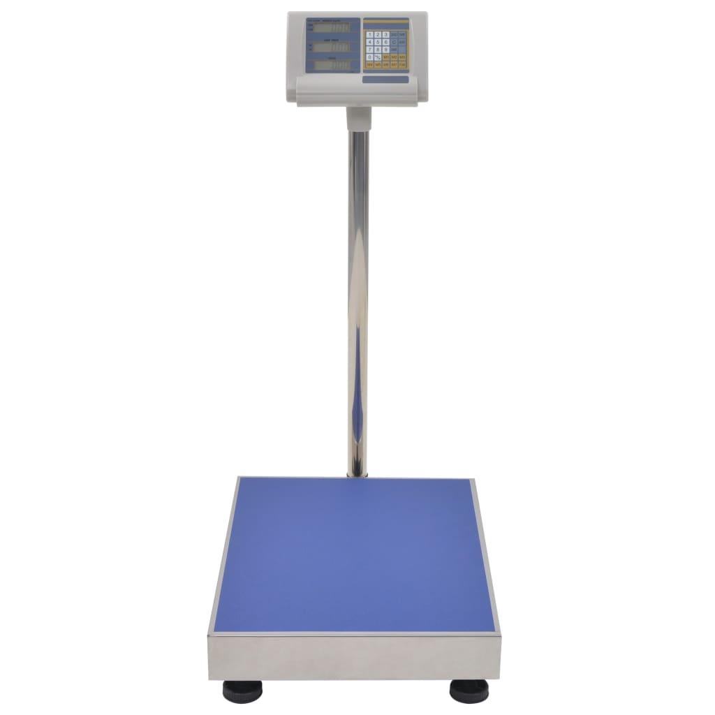 vidaXL Cântar digital cu platformă, cu baterie reîncărcabilă, 300 kg