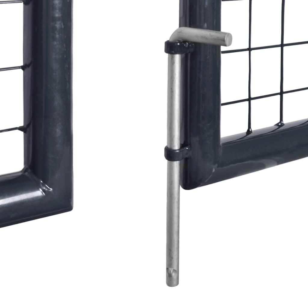 vidaXL Poartă din plasă de grădină, gri, 289×100 cm, oțel galvanizat