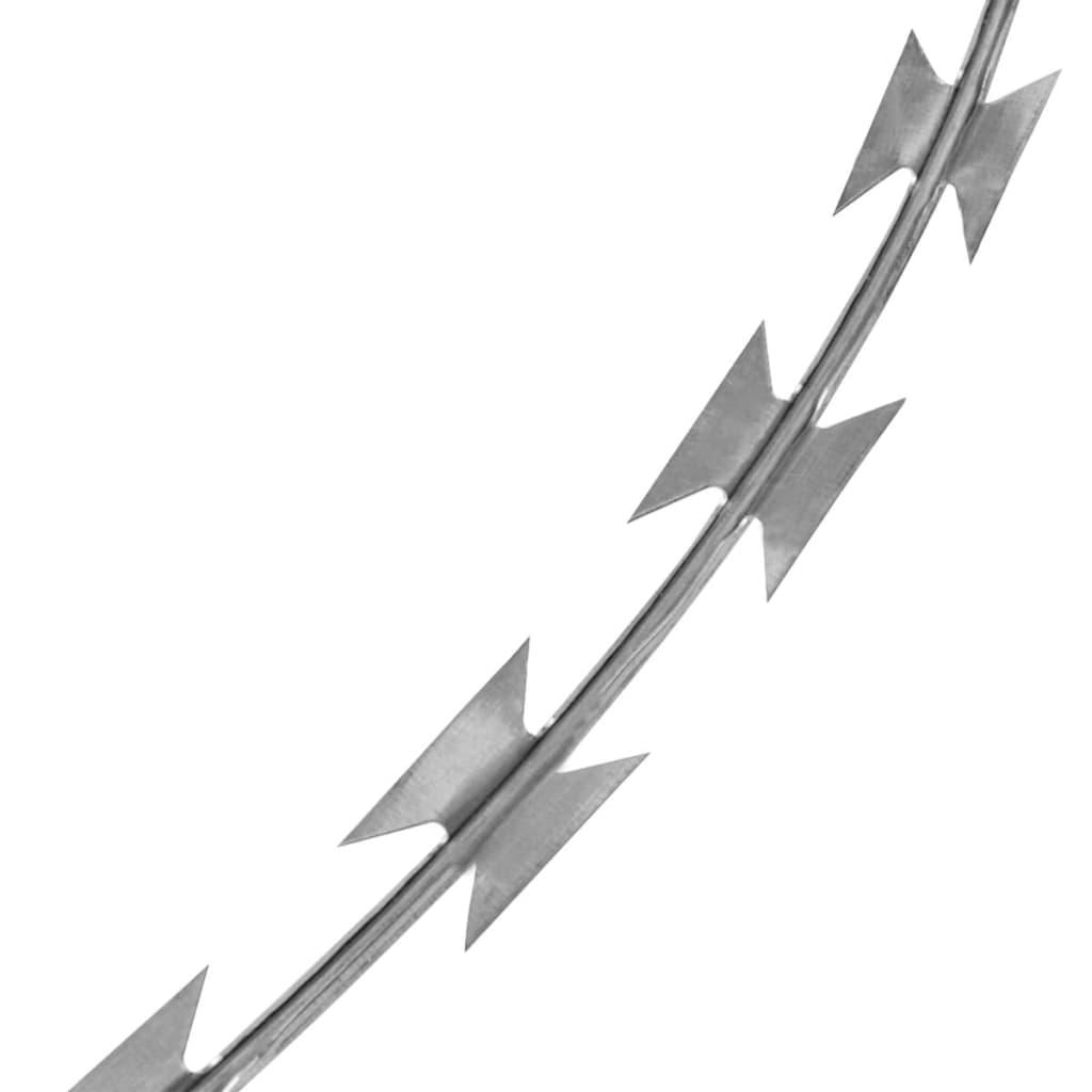Sârmă ghimpată cu cleme Concertina NATO, oțel galvanizat, 300 m