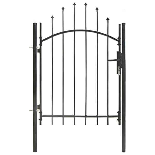 vidaXL Poartă de grădină, negru, 1 x 1,5 m, oțel