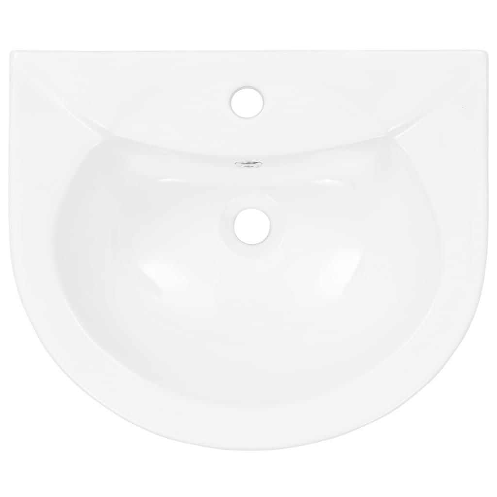 Chiuvetă de baie cu piedestal, alb, 520x440x190 mm, ceramică