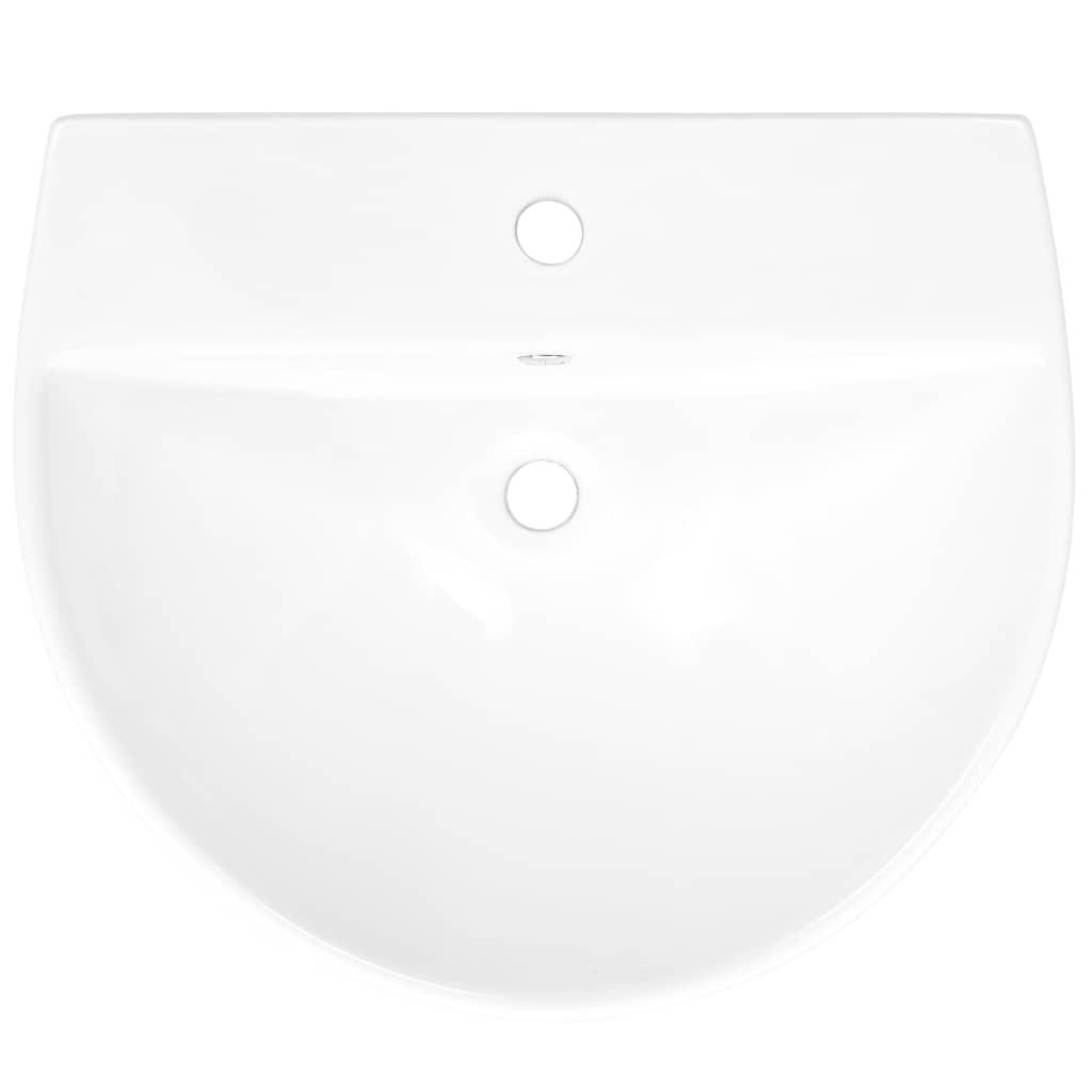 Chiuvetă ceramică suspendată pe perete, alb, 500x480x420 mm