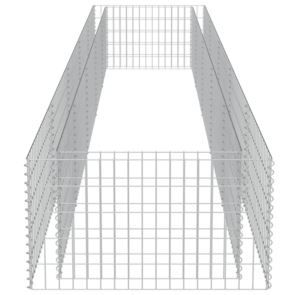 Strat înălțat gabion, 450 x 90 x 50 cm, oțel galvanizat