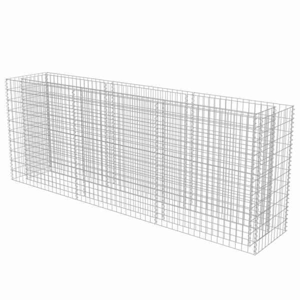 vidaXL Strat înălțat gabion, 270 x 50 x 100 cm, oțel galvanizat