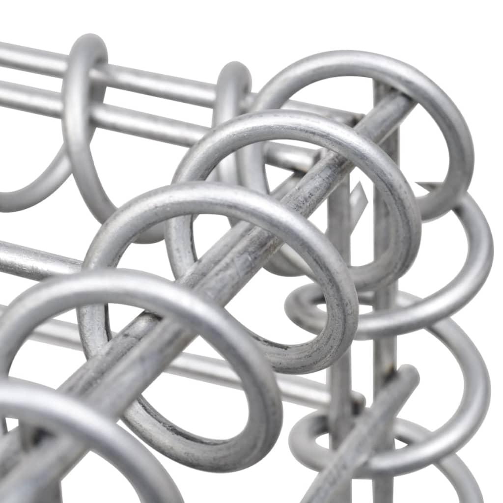 vidaXL Strat înălțat gabion, 450 x 50 x 50 cm, oțel galvanizat