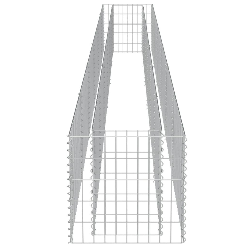 Strat înălțat gabion, 540 x 50 x 50 cm, oțel galvanizat