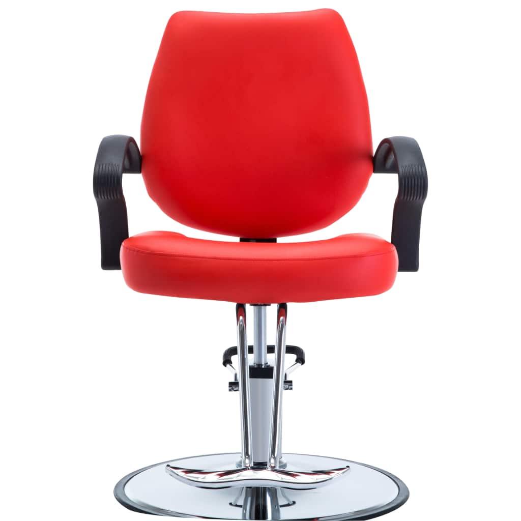 Scaun frizer, piele ecologică, roșu