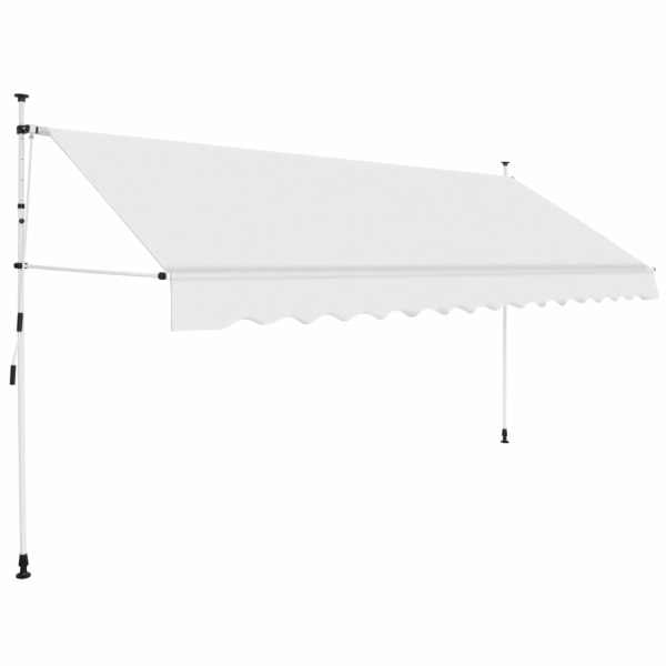 vidaXL Copertină retractabilă manual, crem, 350 cm