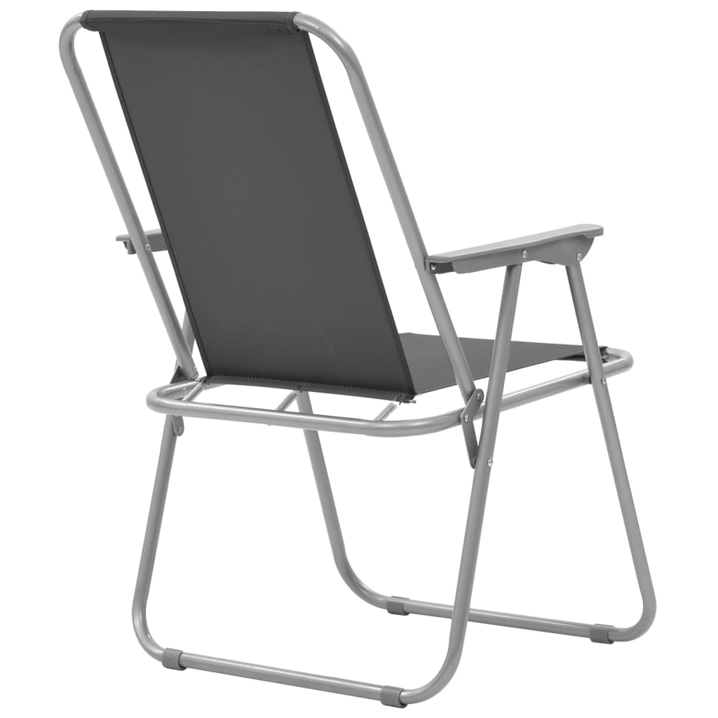 vidaXL Scaune camping pliabile, 2 buc., gri, 52x59x80 cm