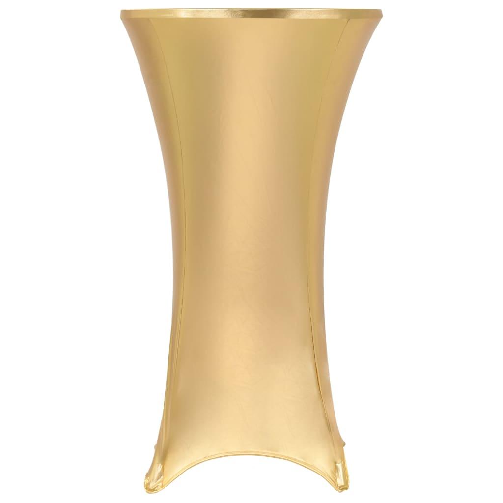 vidaXL Huse elastice de masă, 2 buc., auriu, 60 cm