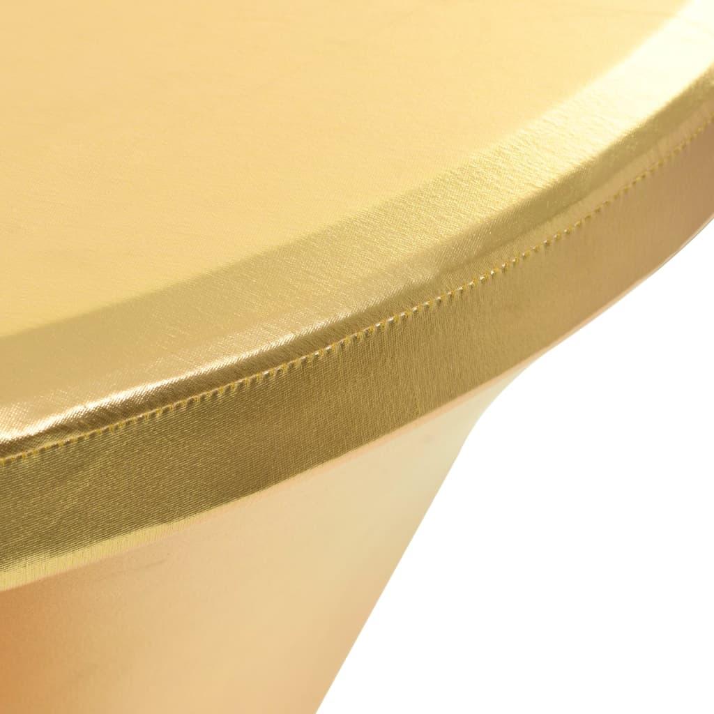 Huse elastice de masă, 2 buc., auriu, 60 cm