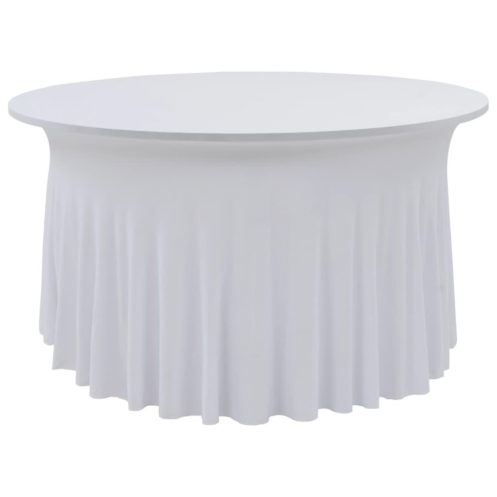 vidaXL Huse elastice de masă lungi, 2 buc., alb, 180×74 cm