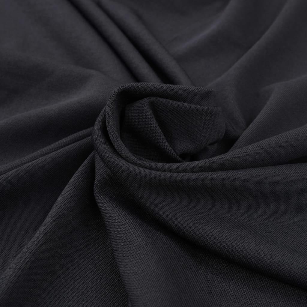 Huse elastice masă lungi, 2 buc., antracit, 120 x 74 cm