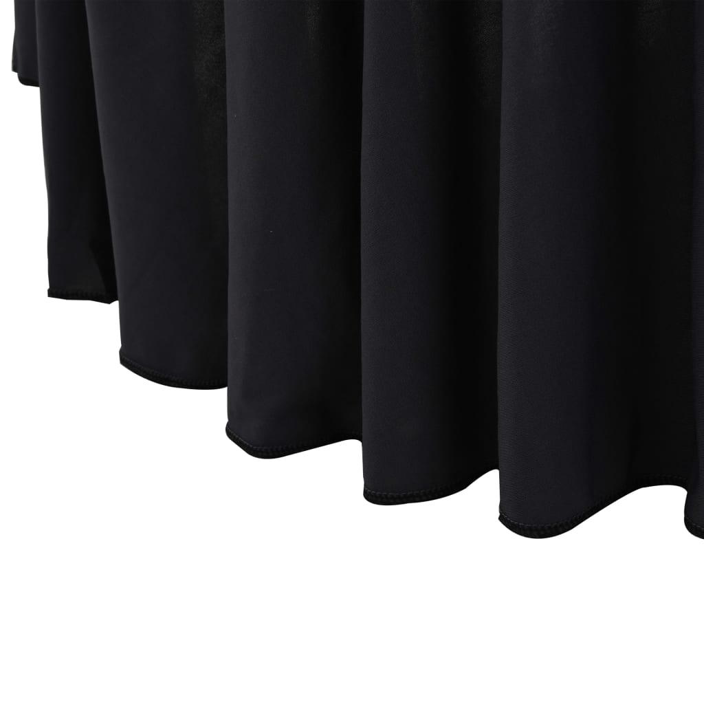 vidaXL Huse elastice masă lungi, 2 buc., antracit, 180 x 74 cm