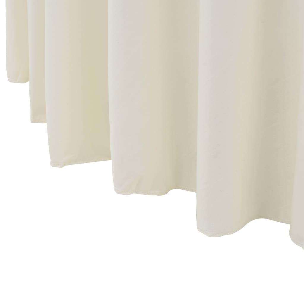 Huse elastice masă lungi, 2 buc., crem, 150 x 74 cm