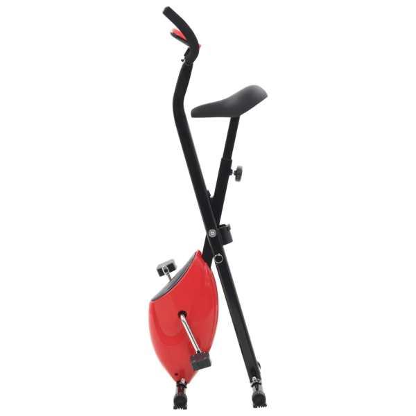 vidaXL Bicicletă fitness X-Bike cu curea de rezistență, roșu