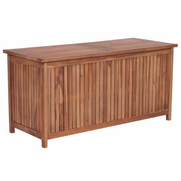 vidaXL Ladă de depozitare grădină, 120 x 50 x 58 cm, lemn masiv de tec
