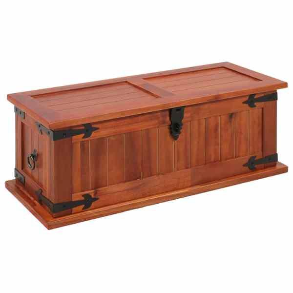 vidaXL Cufăr de depozitare, 60 x 25 x 22 cm, lemn masiv de salcâm