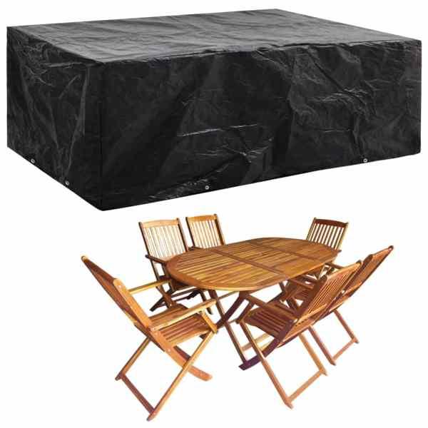 vidaXL Husă mobilier grădină, 8 ocheți, 242 x 162 x 100 cm