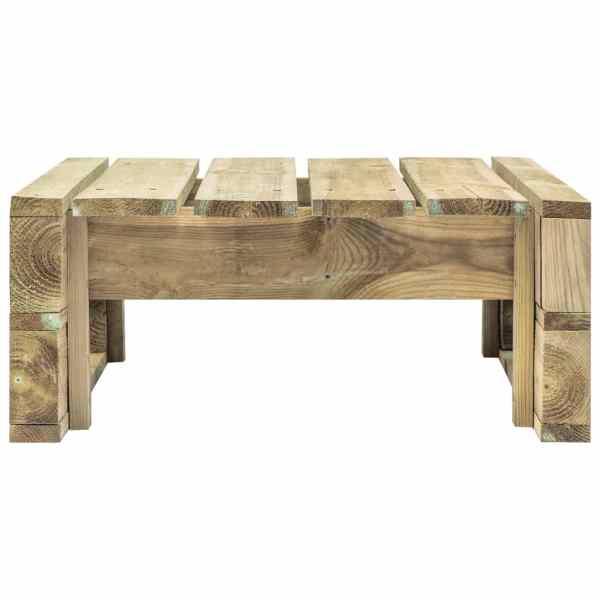 Taburet de grădină din paleți, lemn