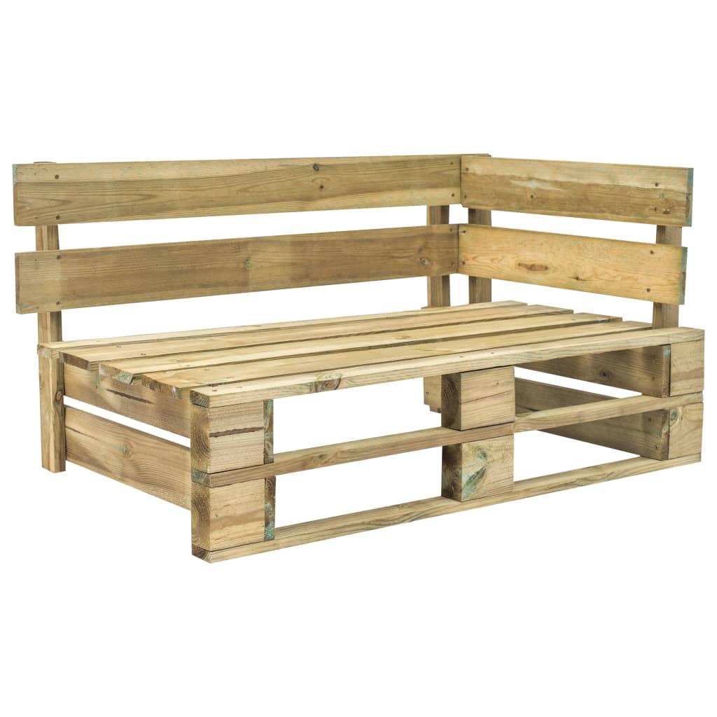 Canapea de grădină din paleți cu perne roșii, lemn de pin