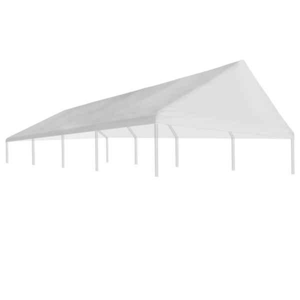 Acoperiș de cort de petrecere, alb, 4 x 8 m