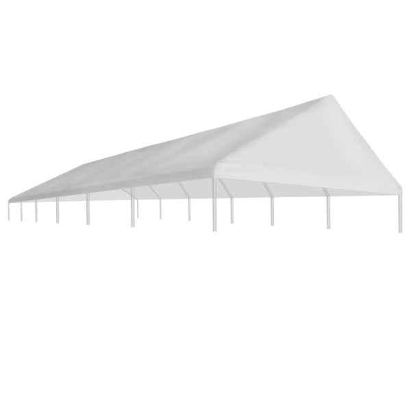 vidaXL Acoperiș cort de petrecere, alb, 6 x 12 m