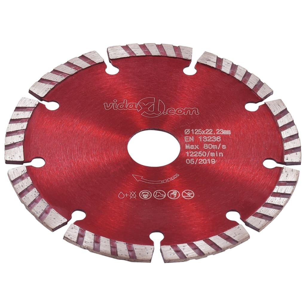 vidaXL Discuri diamantate de tăiere, 2 buc., cu turbo, oțel, 125 mm