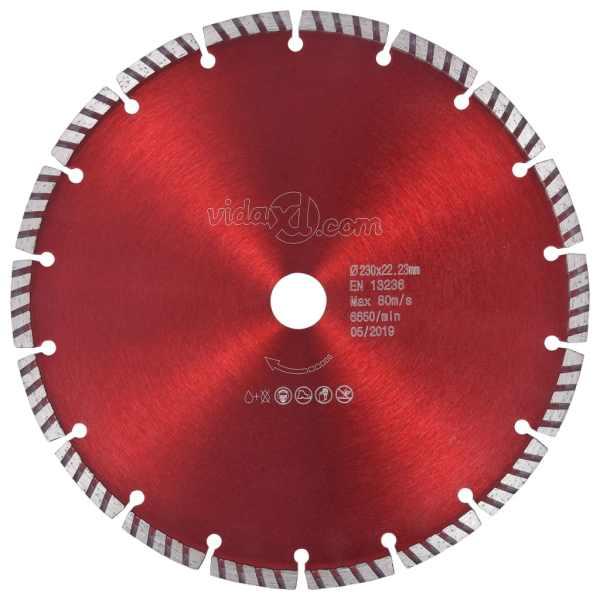 vidaXL Disc diamantat de tăiere cu turbo oțel 230 mm