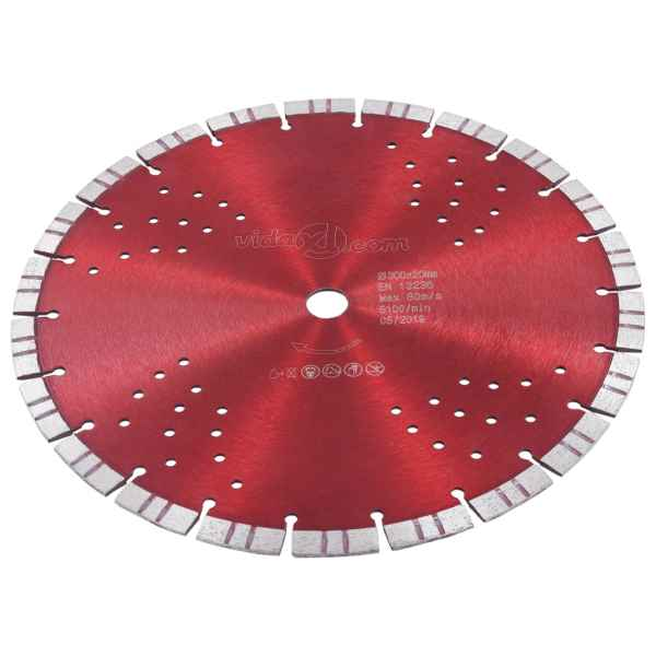 vidaXL Disc diamantat de tăiere cu segmente turbo și găuri oțel 300 mm