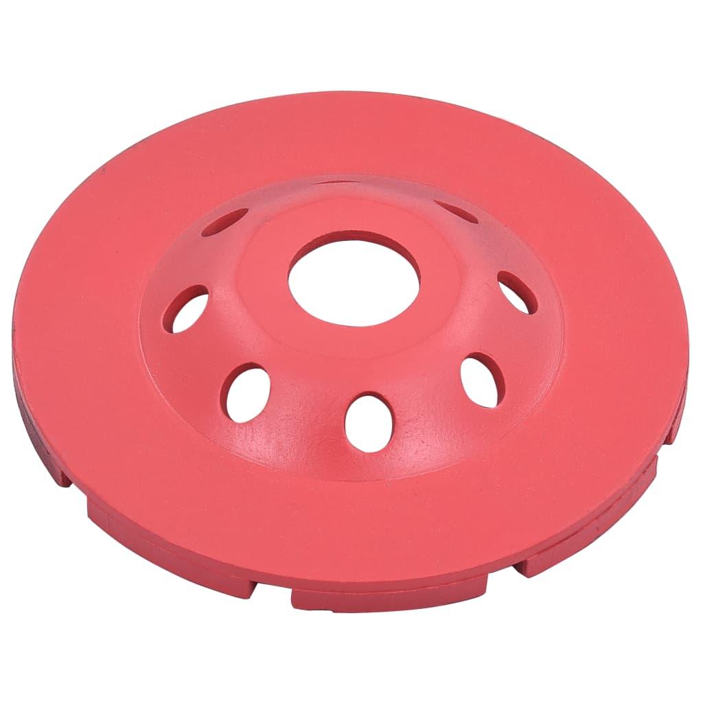 vidaXL Disc de polizare diamantat tip cupă, cu două rânduri, 115 mm