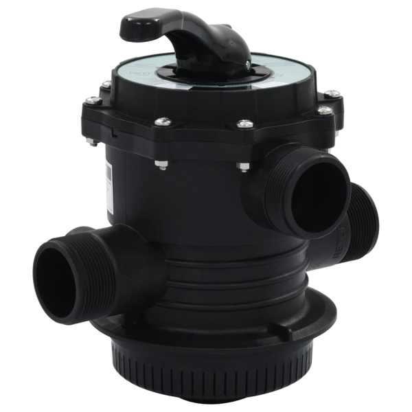 vidaXL Supapă multiport pentru filtre cu nisip, ABS, 1,5″, 6 căi