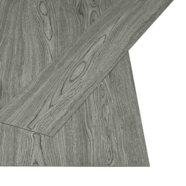 Plăci autoadezive pardoseală gri PVC 4,46 m² 3 mm