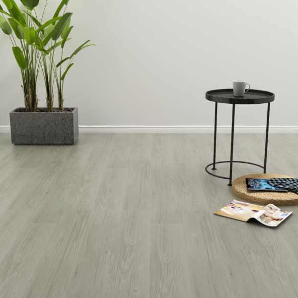 vidaXL Plăci autoadezive pardoseală gri PVC 4,46 m² 3 mm