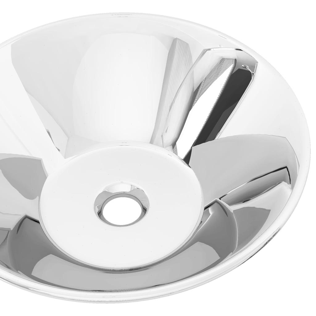 vidaXL Chiuvetă de baie, argintiu, 42 x 14 cm, ceramică
