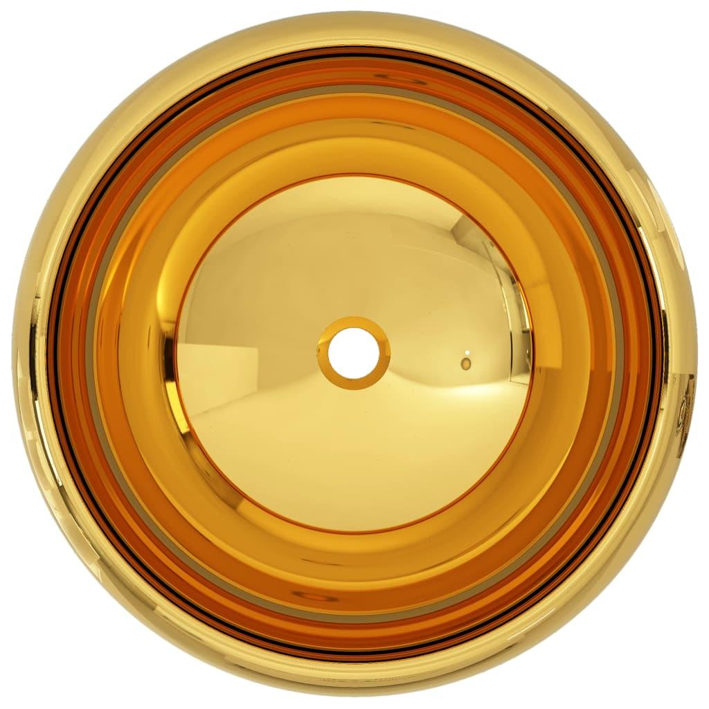 Chiuvetă, auriu, 40 x 15 cm, ceramică