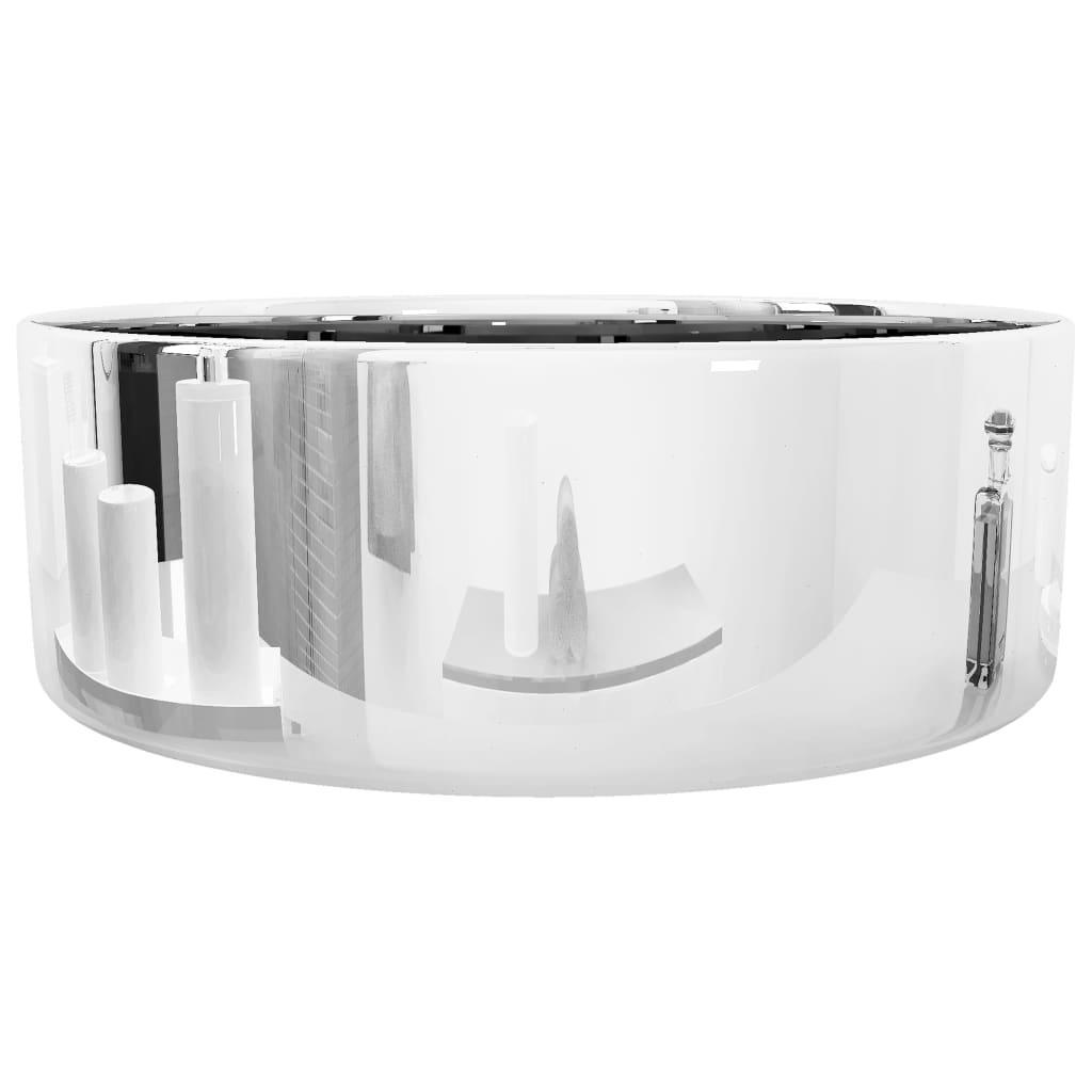 Chiuvetă de baie, argintiu, 40 x 15 cm, ceramică