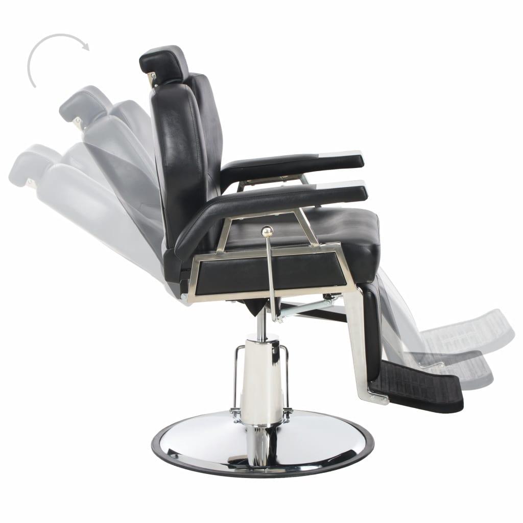 Scaun frizer, negru, 72 x 68 x 98 cm, piele ecologică